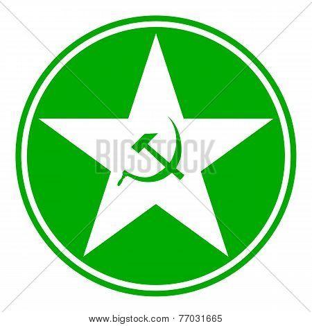 Communism Star Button