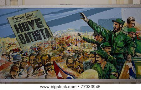 Huye Batista, painting in Havana