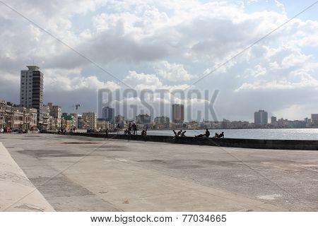 Havana Malecon and havana cityscape