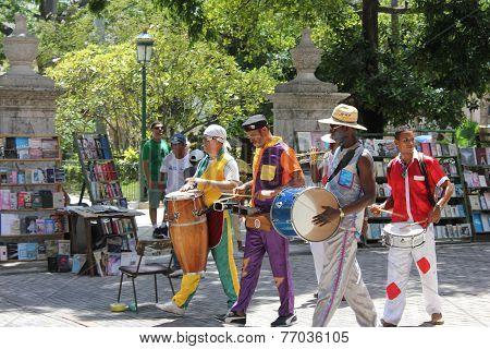 Carnival in Havana, street performer