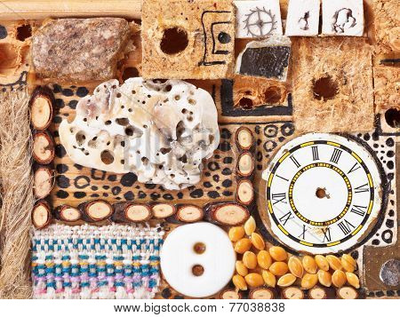 Background From Natural And Sewing Objects
