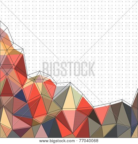 Colorful Vector Abstract Background With Triangle Polygon On White
