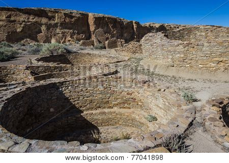 Kiva In Chaco Canyon