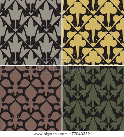 Four Victorian Seamless Patterns