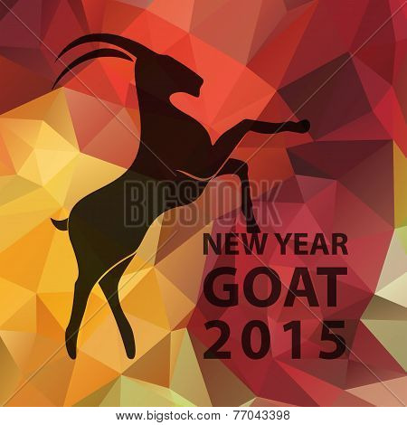 Chinese New Year 2015, Goat With Golden Geometric Pattern