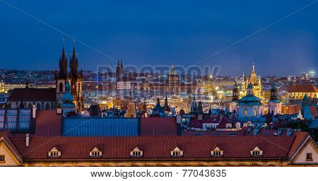 Spires and Rooftops, Old Town, Prague