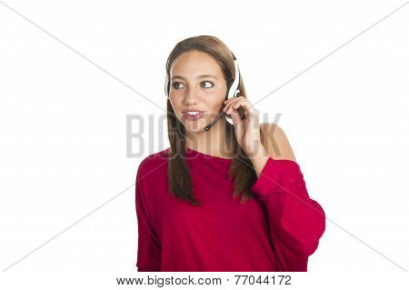 operator at call center