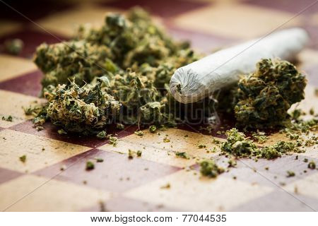 Marijuana Joint Closeup