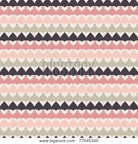 Cute retro abstract stripe seamless pattern. Vector illustration