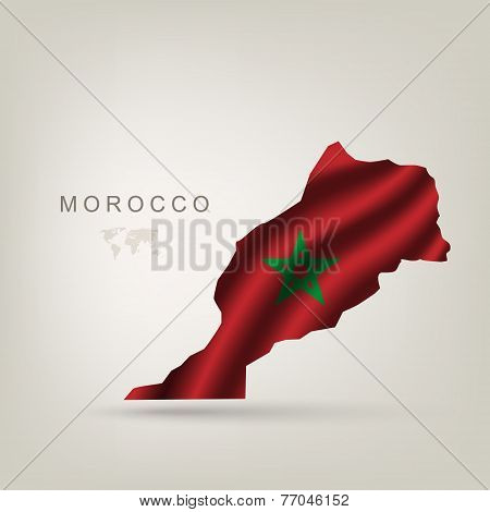 Flag of Morocco as a country