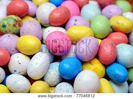 Colorful Candies In Egg Shape