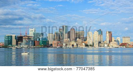 Boston Skyline  From East Boston, Massachusetts - Usa
