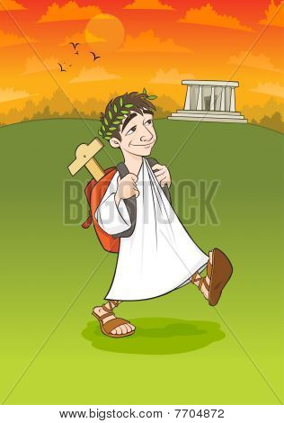 Ancient University Student