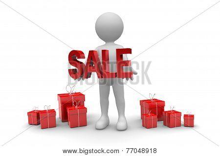 Man Holding Sale Sign