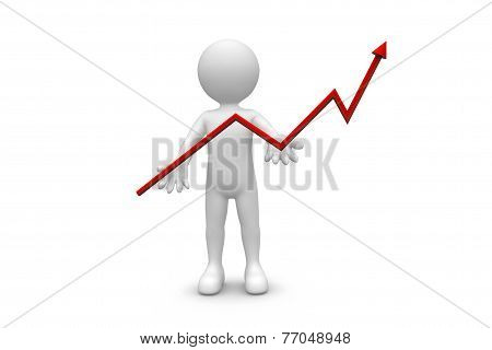 Man Holding Up Graph