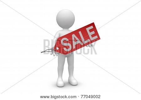 Man With Sale Tag
