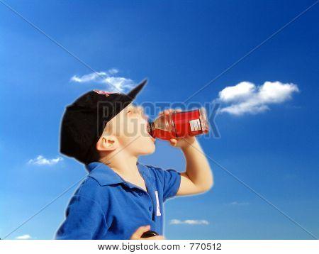 Boy sedento