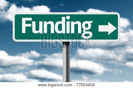 Funding creative green sign