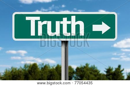 Truth creative green sign