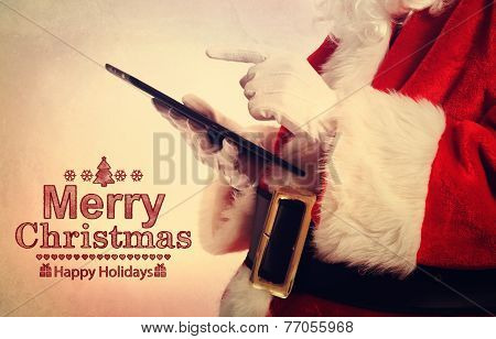 Santa Claus With Tablet