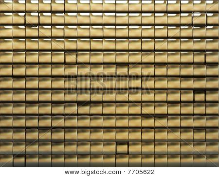 Golden Tiled Wall