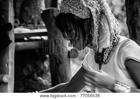 Portraits Karen Hill's Tribes BW 13