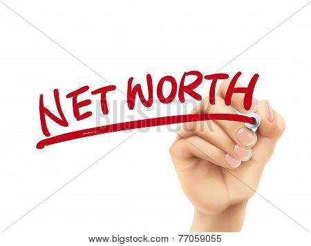Net Worth Words Written By Hand