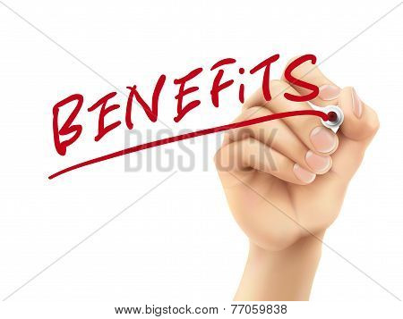 Benefits Word Written By Hand