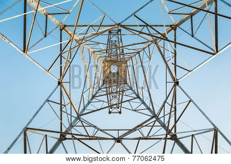 High Voltage Transmission Pylon Closeup