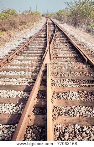 Rail Tracks Junction