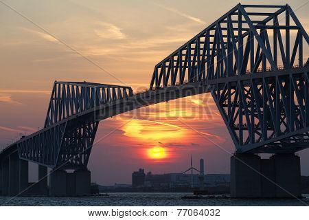 Tokyo bay and Tokyo gate bridge