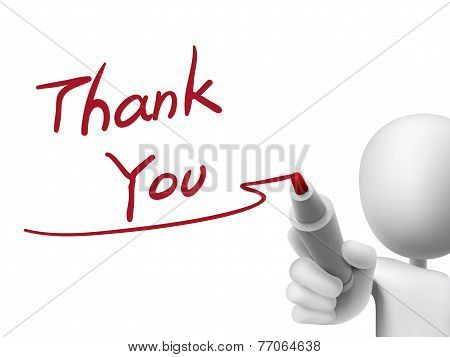 Thank You Words Written By 3D Man