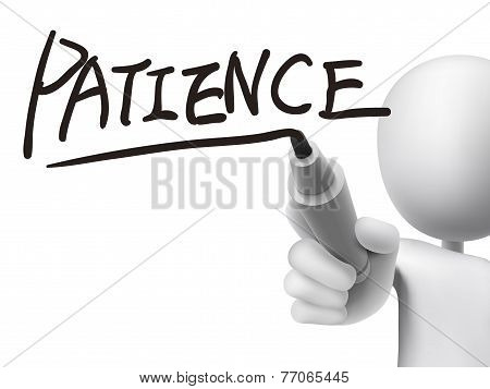 Patience Word Written By 3D Man