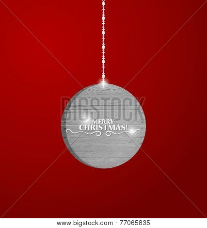 Christmas background with Christmas ba. Vector illustration.