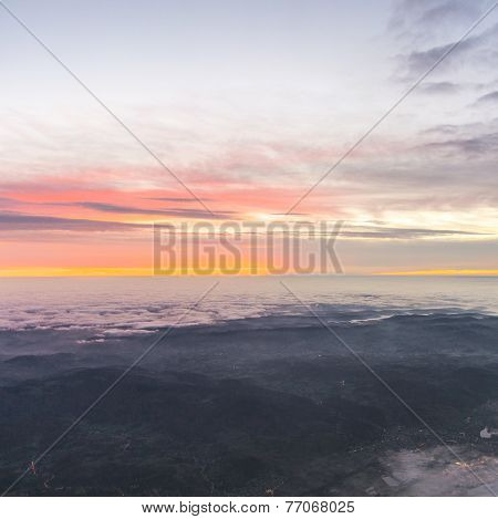 Spectacular Sunrise Over The Clouds