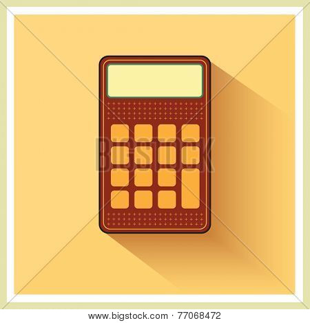Classic Finance Accounting Calculator on Retro Background vector