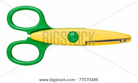Children's Scissors Isolated On White Background