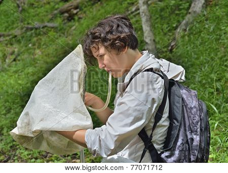 Young Woman Entomologist