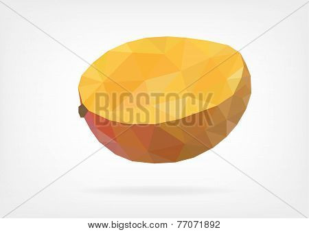 Low Poly Mango Fruit