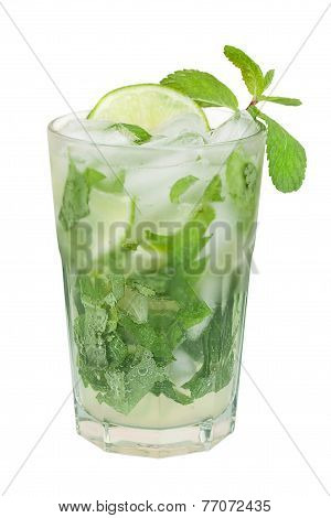 Mojito cocktail isolated on a white background