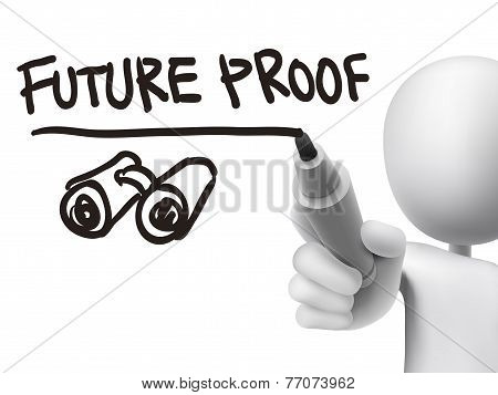 Future Proof Words Written By 3D Man