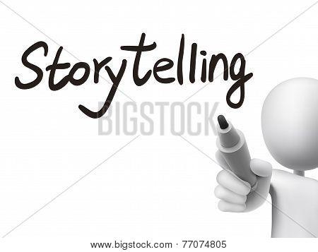 Storytelling Word Written By 3D Man