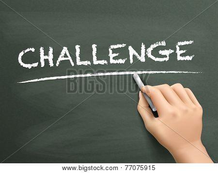 Challenge Word Written By Hand