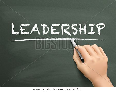 Leadership Word Written By Hand