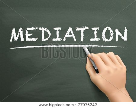 Mediation Word Written By Hand