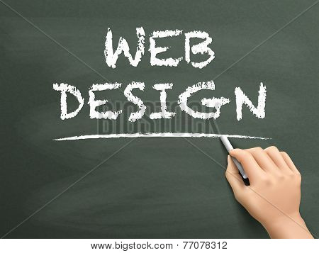 Web Design Words Written By Hand
