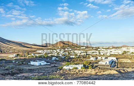 View To Uga, Rural Village In Lanzarote