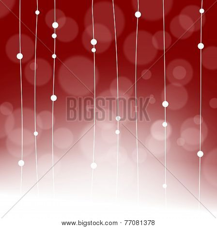 Foggy Background With Dangling Garland - Copy Space