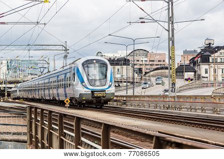 Modern  Train In Sweden