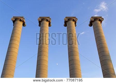 Columns in Montjuic